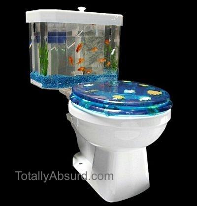 Fish 'n Flush Toilet Aquarium - Real Stuff from Totally Absurd Inventions & Patents!