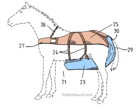 Horse Diaper -  Totally Absurd Inventions & Patents!